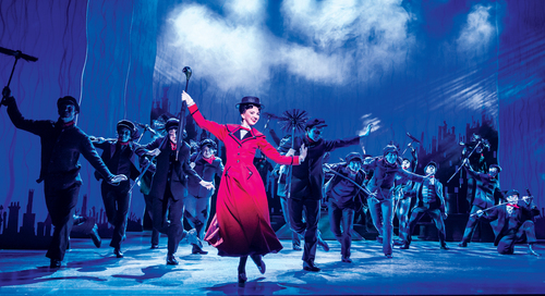 MARY POPPINS - Step In Time - Zizi Strallen as Mary Poppins and the Company. Credit Johan Persson.