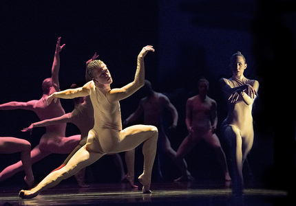 Dancers Scott Fowler, Kirsten Wicklund and Artists of Ballet BC in Bill. Credit Chris Randle
