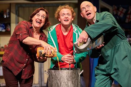 Tessa Vale (Mum), Ed Thorpe (George) and Richard Mullins (Dad)