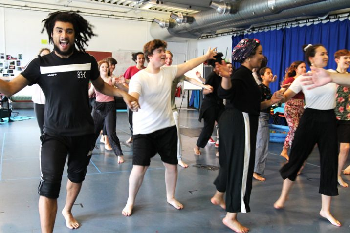 The Tempest - Royal Exchange Theatre Young Company in rehearsal