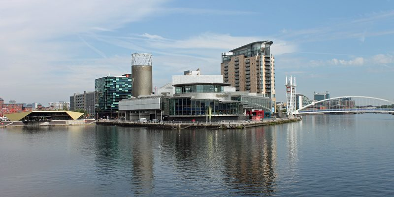 Salford Quays in the sun