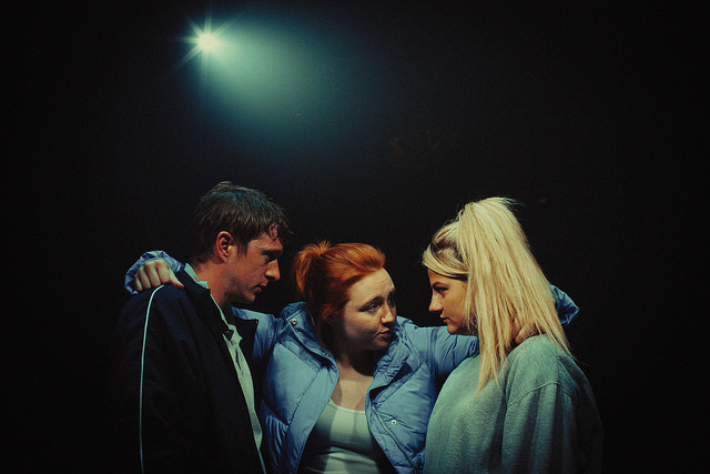 Jack Wilkinson, Katherine Pearce and Charlotte O'Leary in Island Town