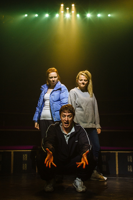 Katherine Pearce, Jack Wilkinson and Charlotte O'Leary in Island Town