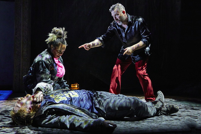 Brad Morrison (Murderer), Helen Katamba (Murderer) and Michael Nardone (Macbeth) credit BrinkhoffMogenburg