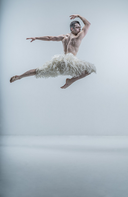 MATTHEW BOURNE'S SWAN LAKE. Max Westwell as 'The Swan'. Photo by Johan Persson
