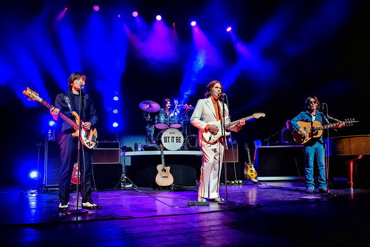 Cast of Let It Be On Stage In Cardiff credit Anthony Robling