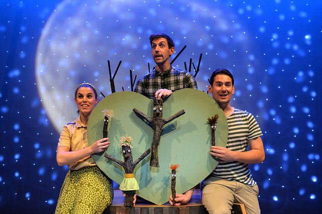 The Stick Man live on stage. Credit Steve Ullathorne
