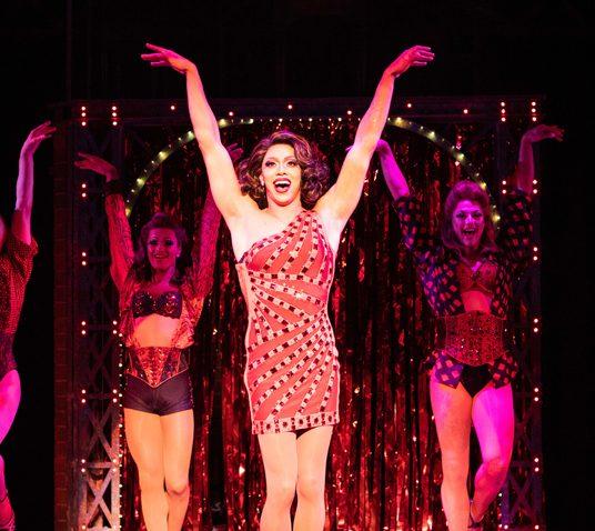 Callum Francis as Lola in Kinky Boots. Photo Helen Maybanks.