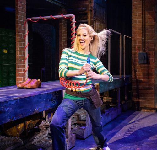 Paula Lane as Lauren in Kinky Boots. Photo Helen Maybanks