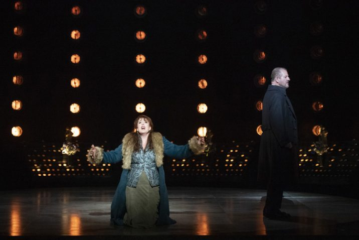Giselle Allen as Tosca and Robert Hayward as Scarpia. Photo credit: Richard H Smith