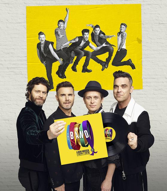 Howard Donald, Gary Barlow, Mark Owen, Robbie Williams and The Band, credit Jay Brooks