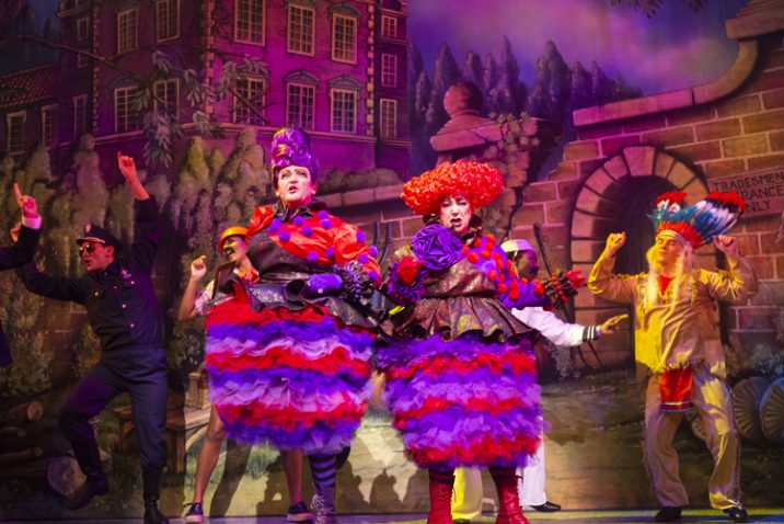 Connor McIntyre and Les Dennis as the Ugly Sisters Photo: Phil Tragen