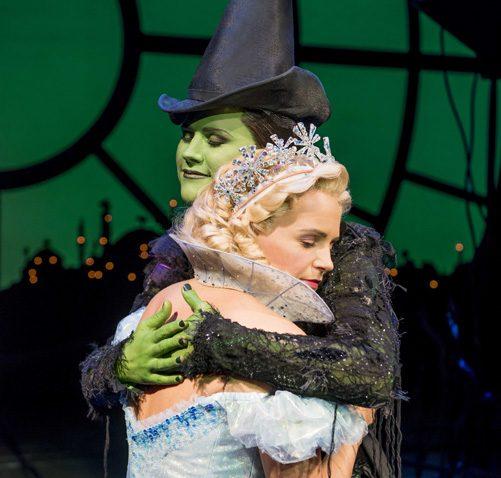 Helen Woolf as Glinda and Amy Ross as Elphaba. Photo Credit Matt Crockett