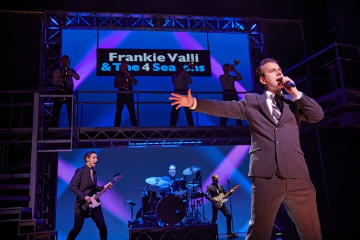 Michael Watson as Frankie Valli in JERSEY BOYS. Credit Brinkhoff and Mögenburg