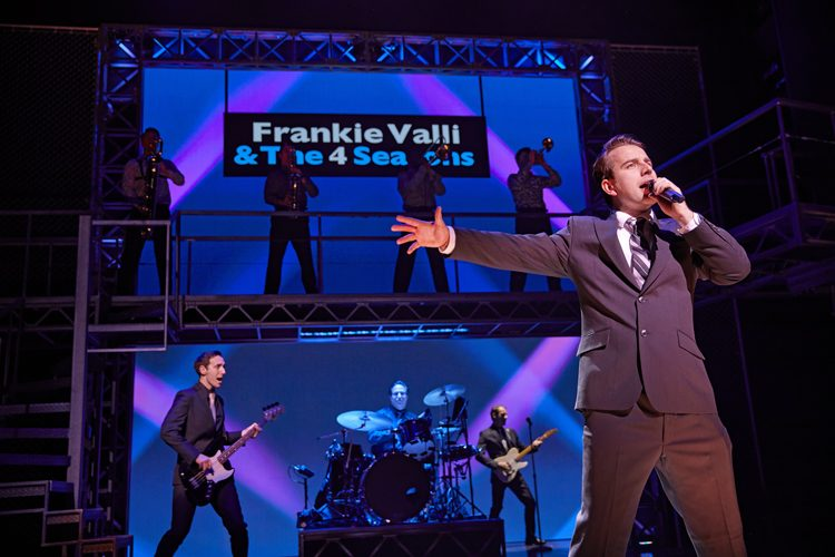 Michael Watson as Frankie Valli in JERSEY BOYS. Credit Brinkhoff and Mögenburg
