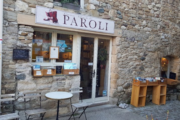 Paroli book shop in Minerve Medieval Village