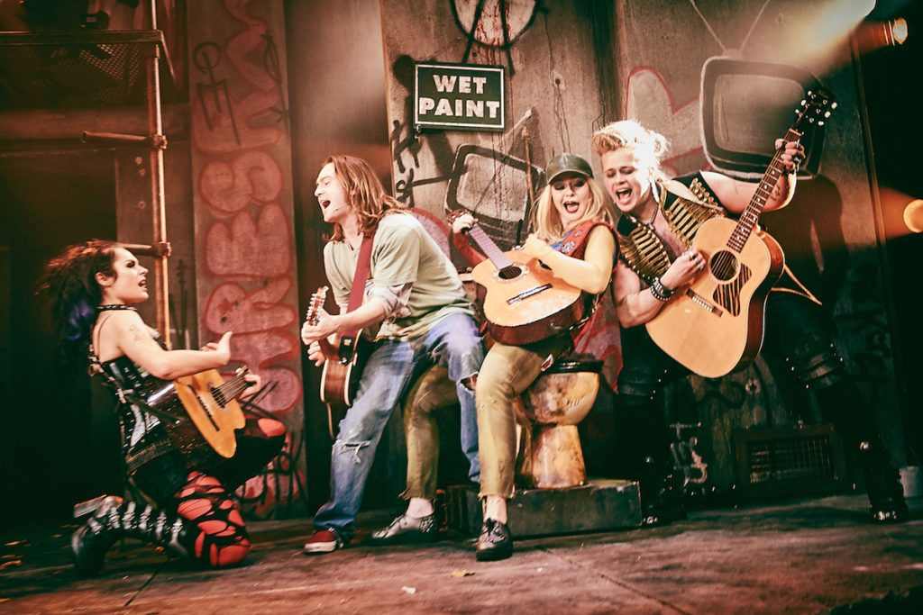 [L-R] Sam Lavery (Whatsername), Samuel Pope (Will), Laura Marie Benson (Lesley), Luke Friend (St. Jimmy) - American Idiot - UK Tour - Mark Dawson Photography