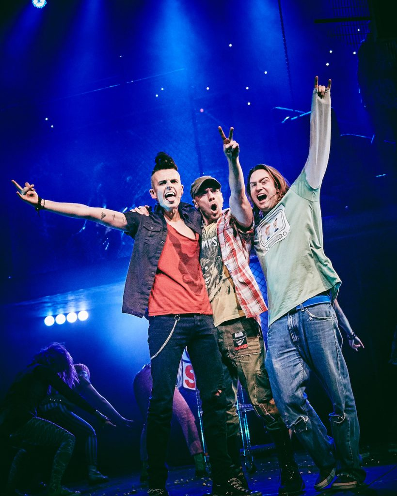 [L-R] Tom Milner (Johnny), Joshua Dowen (Tunny), Samuel Pope (Will) - American Idiot - UK Tour - Mark Dawson Photography
