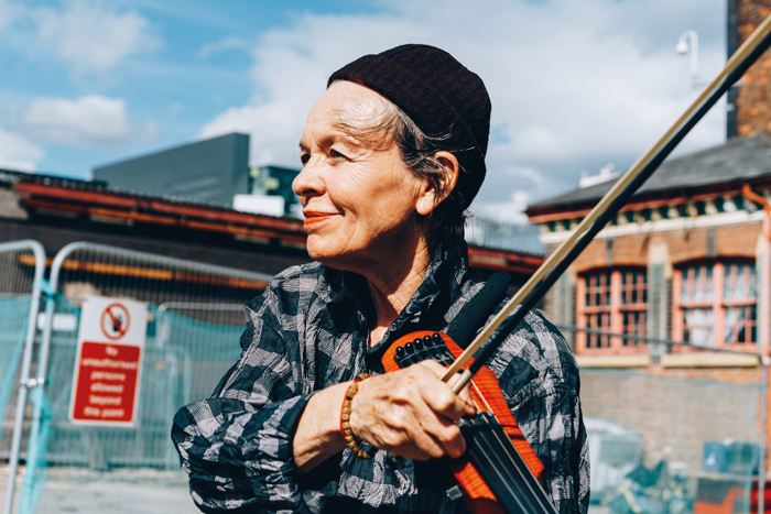 Laurie Anderson at The Factory Groundbreaking. Photo Tarnish Vision.