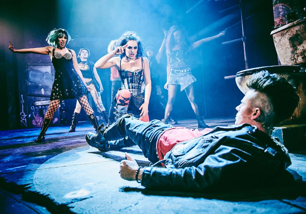 Sam Lavery (Whatsername), Tom Milner (Johnny) and The Cast Of American Idiot - American Idiot © Mark Dawson Photography