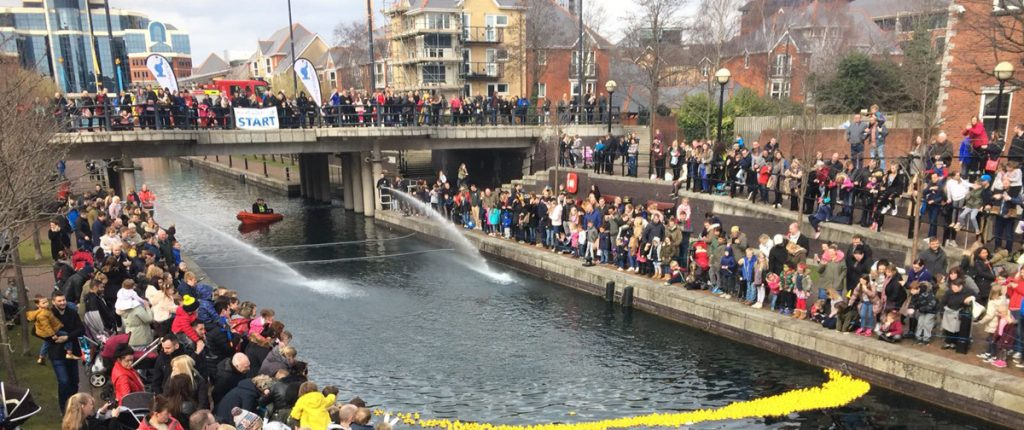 Quays Duck Race, Salford Quays