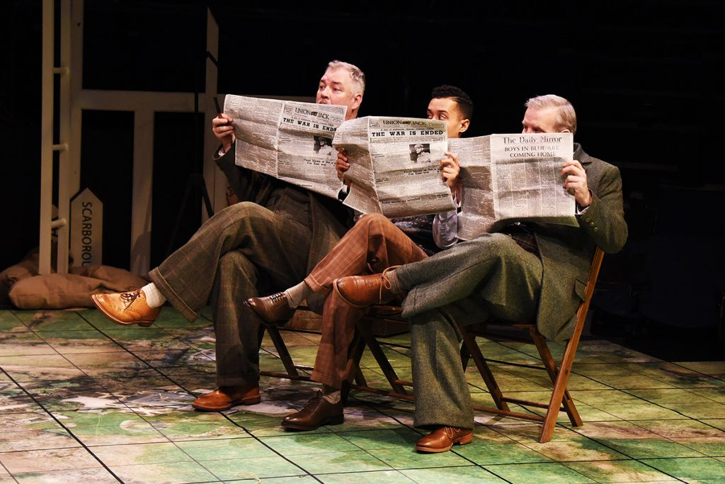 Matt Rixon, Simeon Truby and Linford Jonhson in Northern Broadsides & New Vic Theatre Much Ado About Nothing ©NOBBY CLARK