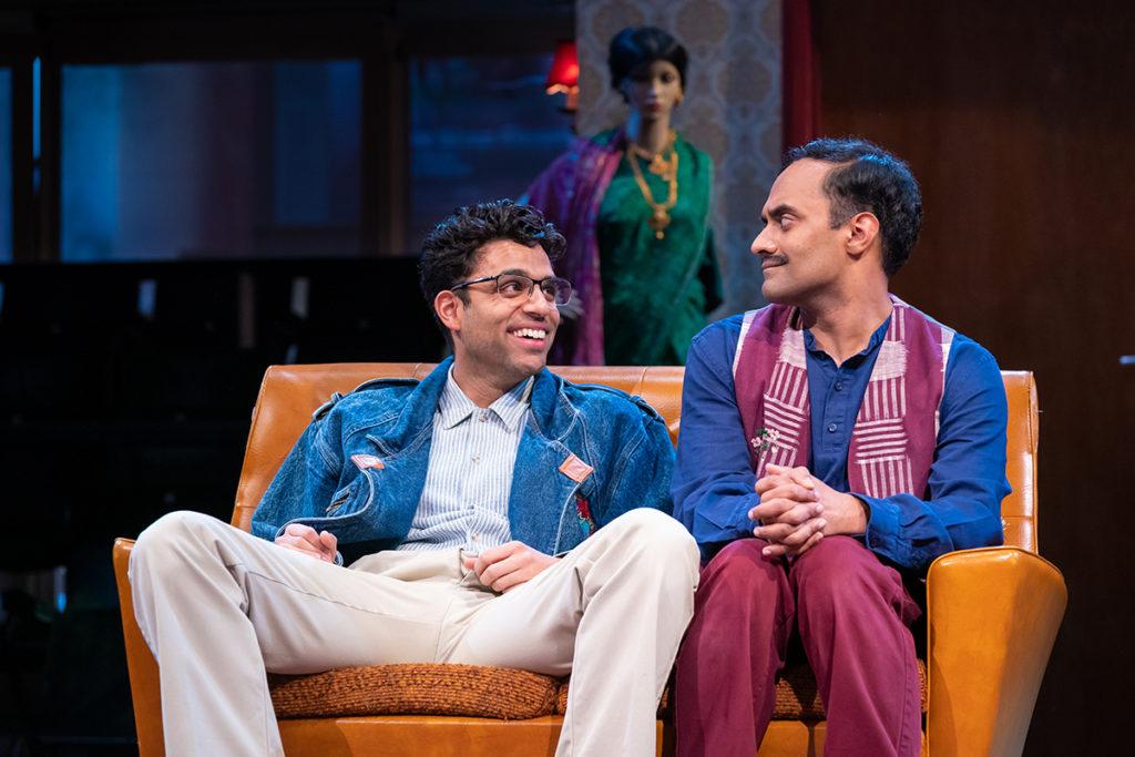HOBSON'S CHOICE - L-R Raj Bajaj (Steve Da Silva) & Esh Alladi (Ali Mossop) - image Marc Brenner