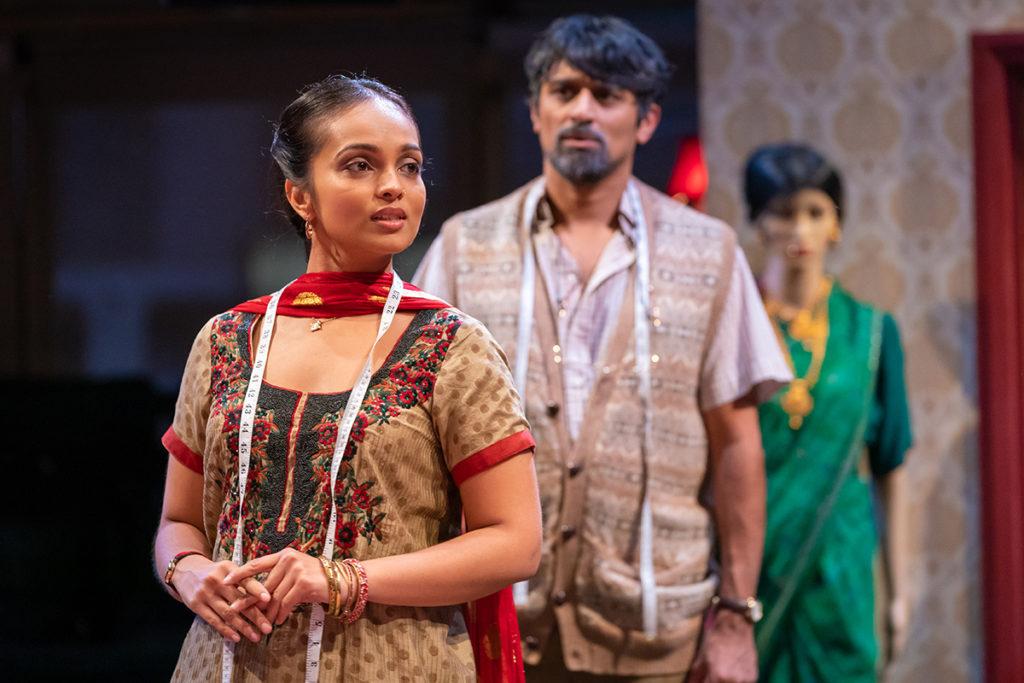 HOBSON'S CHOICE - L-R Shalini Peiris (Durga Hobson) & Avin Shah (Tubby Mohammed) - image Marc Brenner