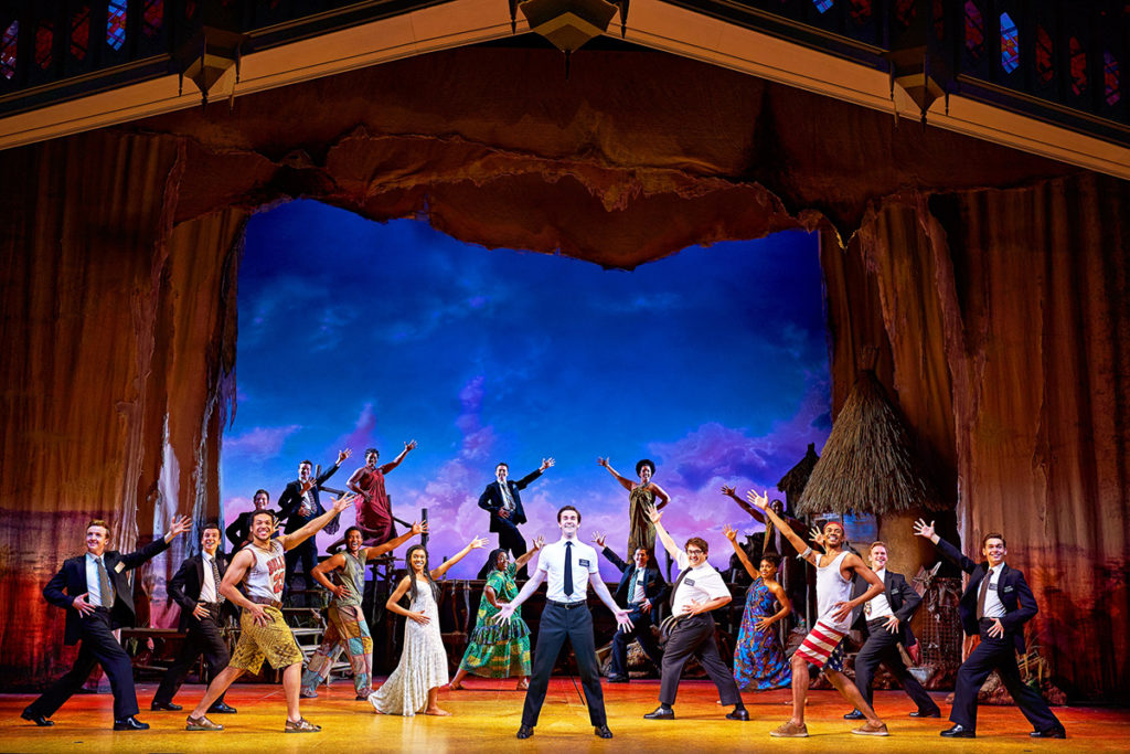 The Book of Mormon cast. Credit: Paul Coltas