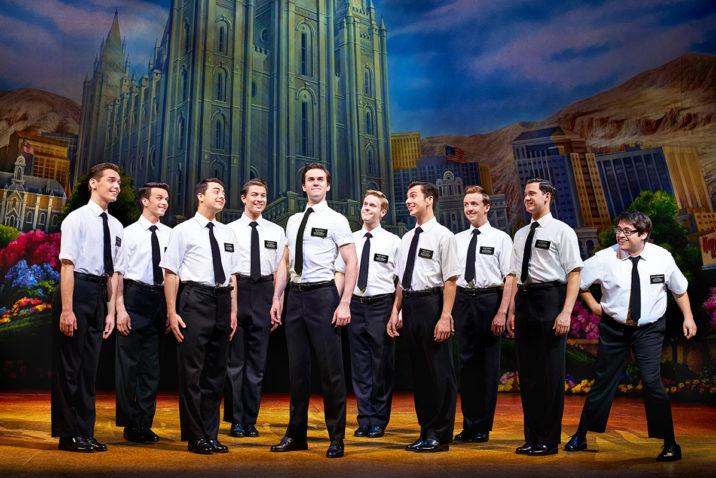 The Book of Mormon cast. Credit: Paul Coltas