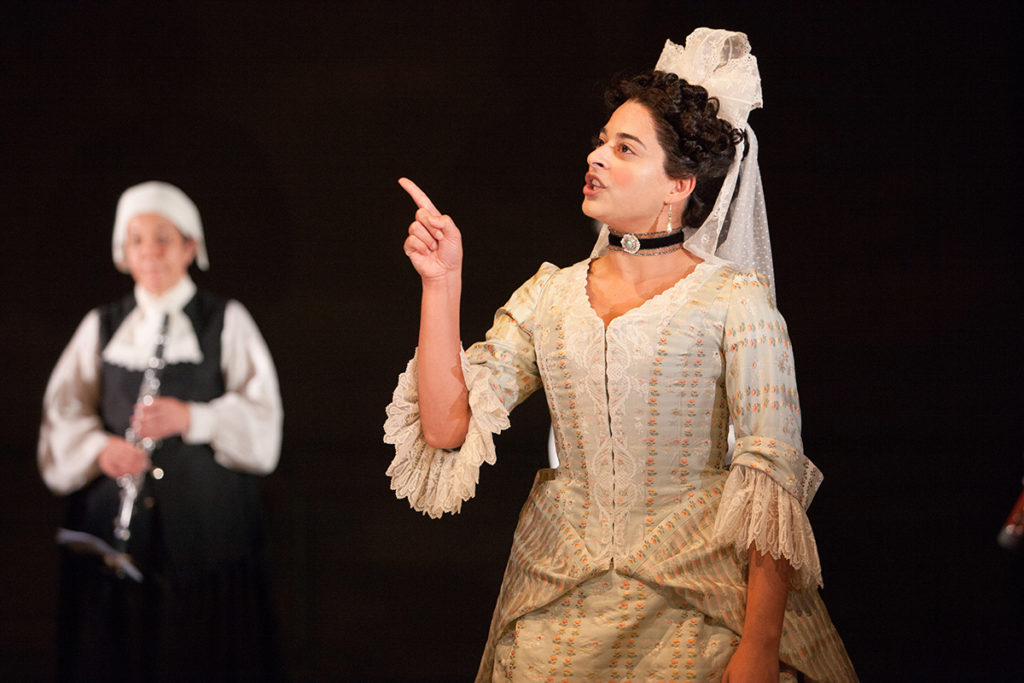 Natalie Dew as Bellinda in The Provoked Wife at Swan Theatre, Stratford. Photo by Pete Le May (c) RSC.