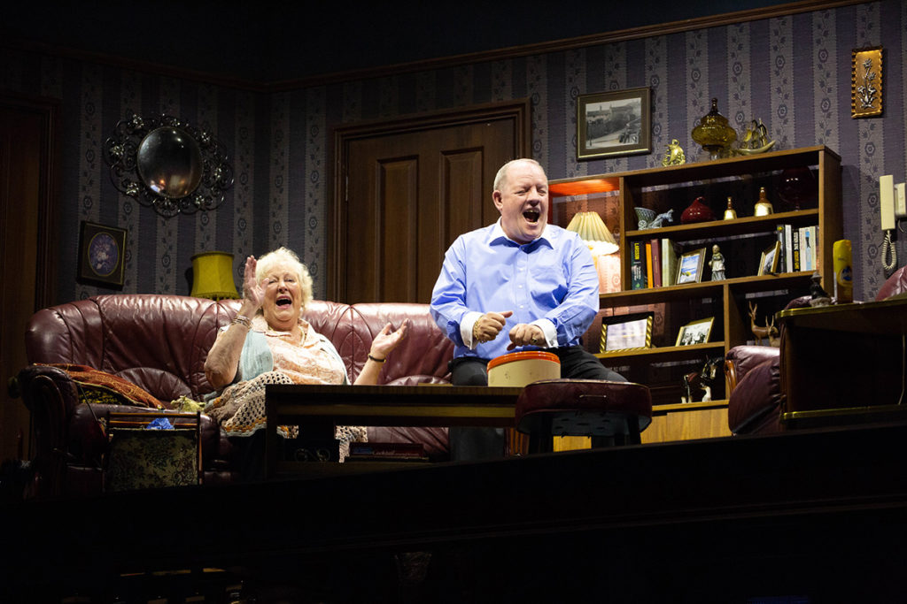 Judith Barker and John Henshaw in Early Doors. Photo: Nathan Cox.