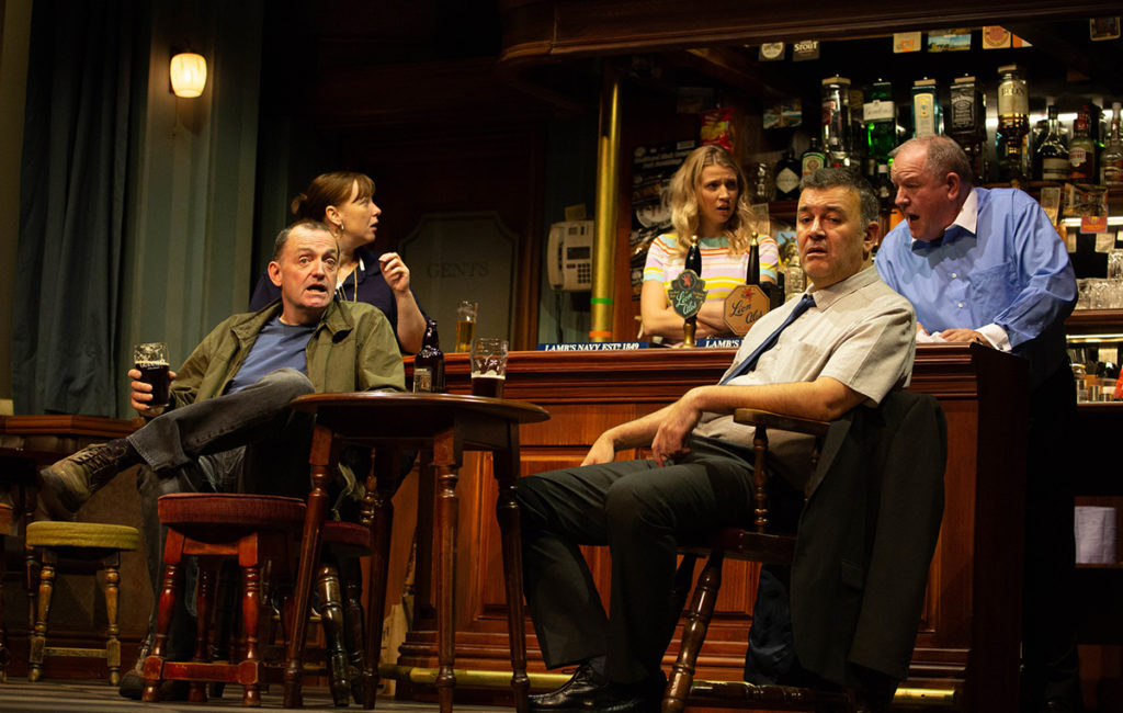 Craig Cash, Lisa Millett, Laura Woodward, Phil Mealeyand John Henshaw in Early Doors. Photo: Nathan Cox.