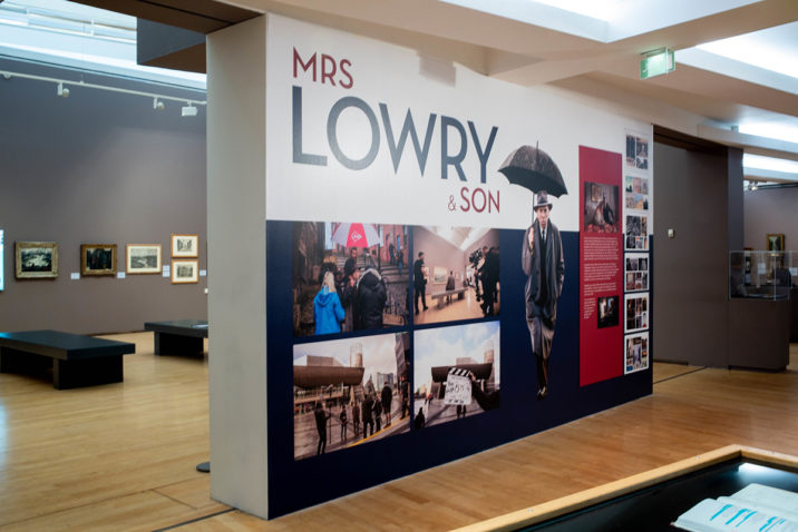 Mrs Lowry & Son display at The Lowry, Salford Copyright: Nathan Cox