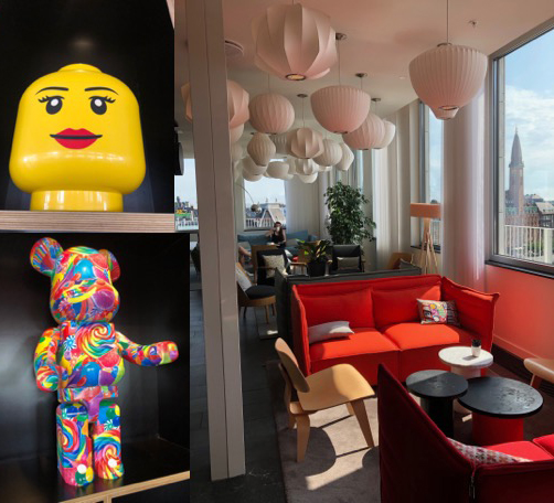 CitizenM Hotel lobby and quirky art work, Copenhagen
