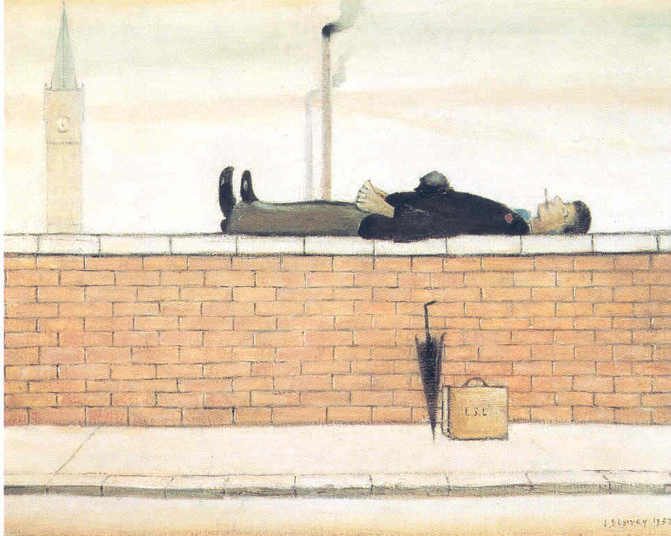 Man Lying on a Wall 1957 © The Lowry Collection, Salford