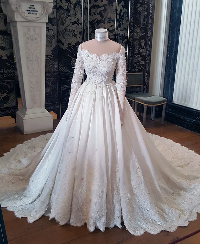 The first British bridal gown to have been designed by Dolce & Gabbana.