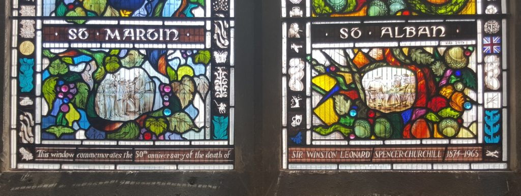 Stained glass window in St Martins Church