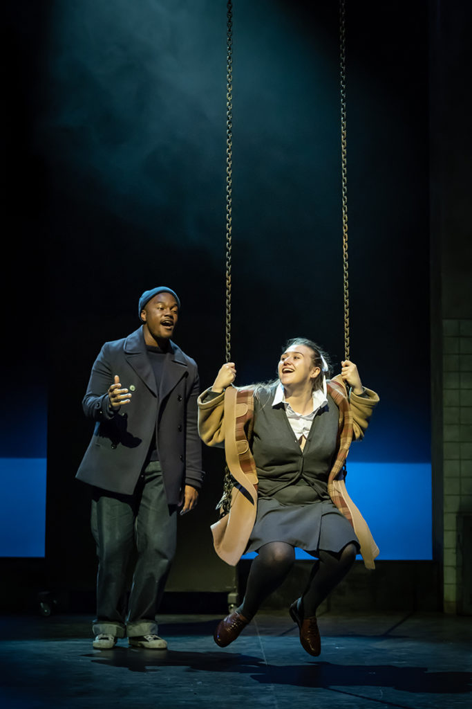 Durone Stokes (Jimmie) and Gemma Dobson (Jo) in A Taste of Honey. Credit Marc Brenner