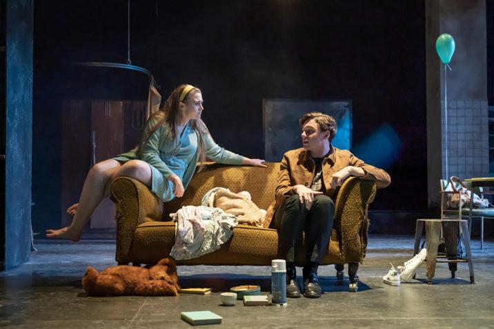 Gemma Dobson (Jo) and Stuart Thompson (Geoffrey) in A Taste of Honey. Credit Marc Brenner