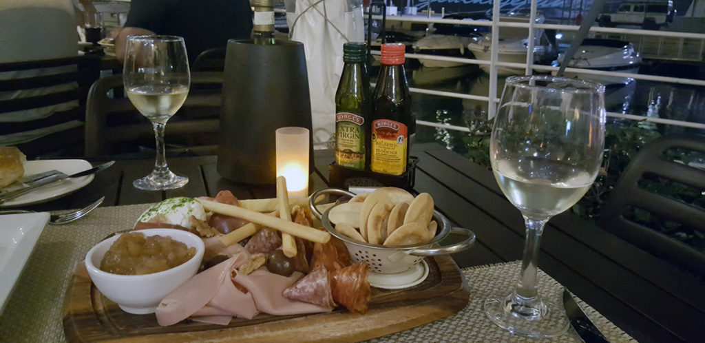 Antipasti at the waterfront