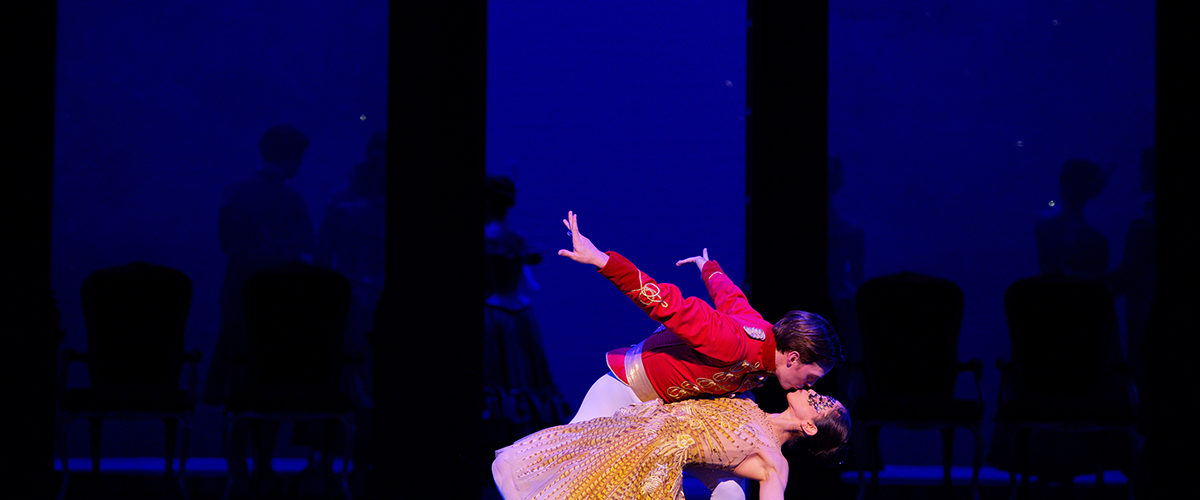 Erina Takahashi and Joseph Caley in English National Ballet's Cinderella (c) Laurent Liotardo