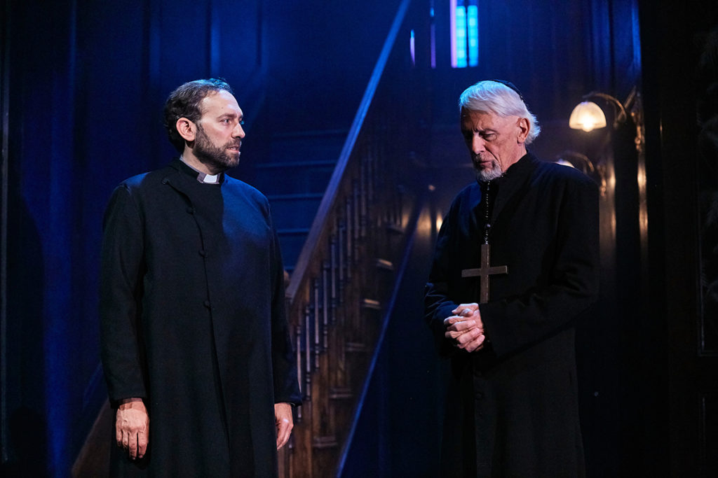 The Exorcist  (L-R) Ben Kaplan (Damian) & Paul Nicholas (Father Merrin) Photo Credit  The Other Richard