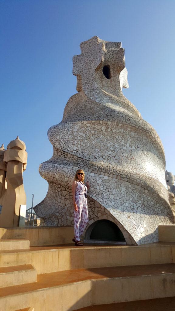 Lorraine by one of the La Pedrera Chimneys