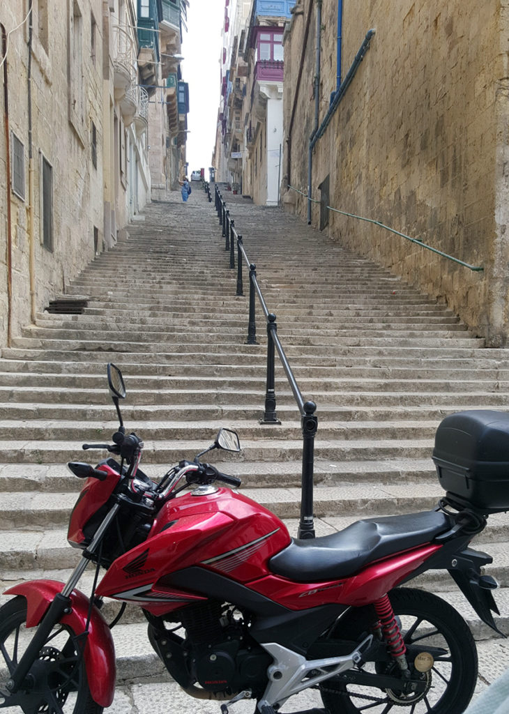 The many steps of Valletta
