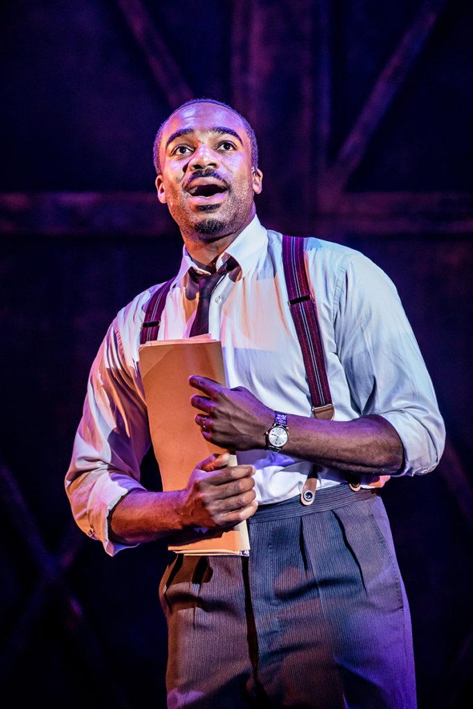 Ore Oduba as 'Aaron Fox' in Curtains The Musical Credit Richard Davenport