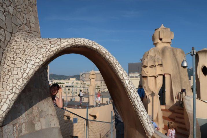 Roof top La Pedrera, Barcelona