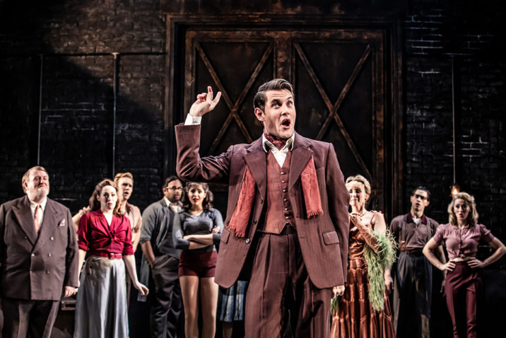 Samuel Holmes 'Christopher Belling' and cast of CURTAINS - credit Richard Davenport