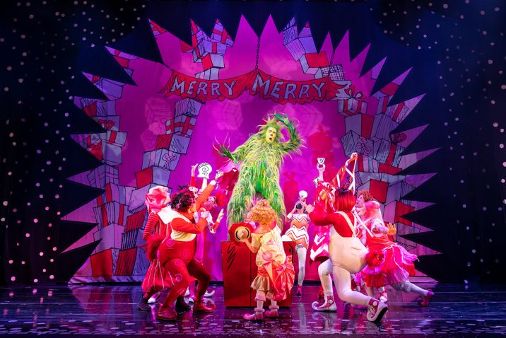 2019 Cast of Dr Seuss' How The Grinch Stole Christmas! The Musical.