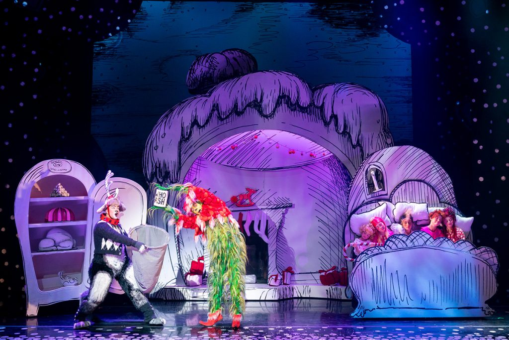 Matt Terry (Young Max) & Edward Baker-Duly (The Grinch) 2019 Cast of Dr Seuss' How The Grinch Stole Christmas! The Musical.